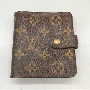 Authentic Louis Vuitton monogram snap zip wallet